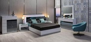 WHITE AND GREY GLASS MODERN BEDROOM SET for Sale in Miami, FL