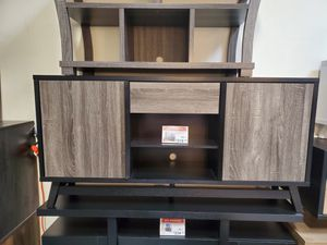 Jason TV Stand up to 70in TVs, Distressed Grey & Black for Sale in Santa Fe Springs, CA