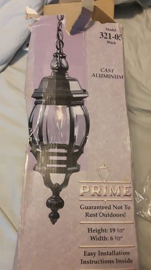Black Cast Aluminum Outdoor Lantern for Sale in Evansville, IN