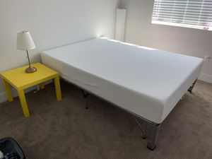 Costco Foam Mattress Queen-size and frame, pick up Wednesday between morning and noon for Sale in San Diego, CA