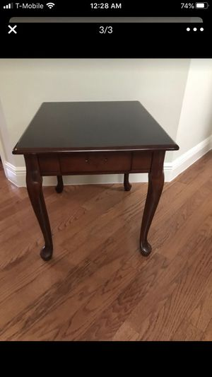 Cherry wood side table w/ drawer S& P shaker $7.00 for Sale in Longwood, FL