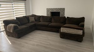 Sectional Couch with Memory Foam Sleeper for Sale in Los Alamitos, CA