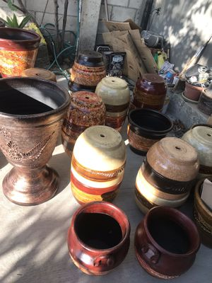 Clay planters 3 sizes available for Sale in Anaheim, CA