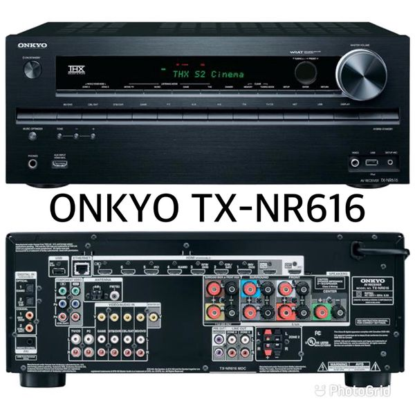 Onkyo TX-NR616 Network 7.2 THX, 3D/4K Home Theater Receiver with 8 HDMI & USB input (Work Perfect)