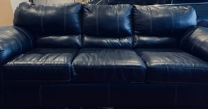 Full Black Leather Couch and Sofa for Sale in Chula Vista, CA
