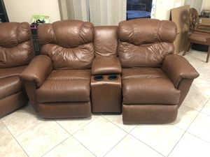 Real leather sectional couch for Sale in Boynton Beach, FL