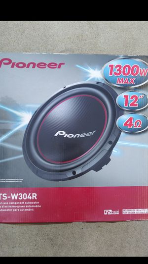 12 inch pioneer subwoofer bass for your car stereo system 1300 watts new from factory great addition too full quality sounds for Sale in Lake Forest, CA