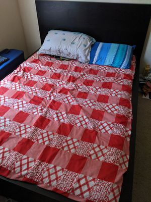 Full size Ikea bed frame and mattress for Sale in San Jose, CA
