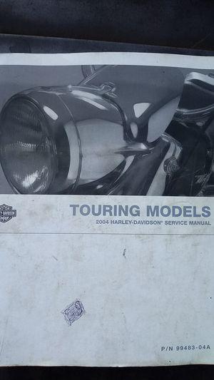 Harley Davidson Touring model service manual for Sale in Glendora, CA