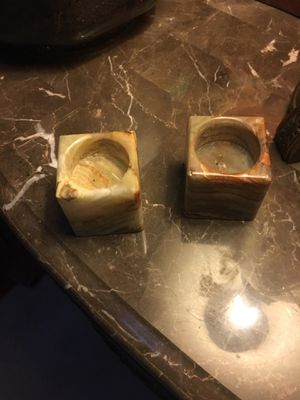 Stone candle holders for Sale in Springfield, VA