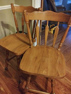 4 hickory rolling chairs for Sale in Washington, IL