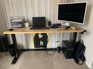 """Sturdy adjustable desk 62"""" x 24"""" x 32""""-42 for Sale in Aliso Viejo, CA"""