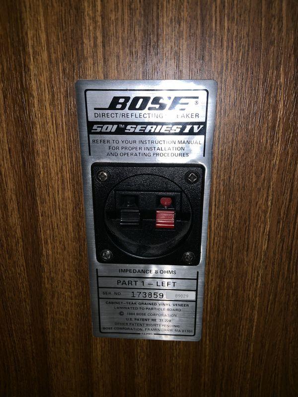 Bose 501 (series IV)