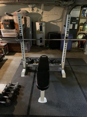 Olympic weight bench set for Sale in Kingsport, TN