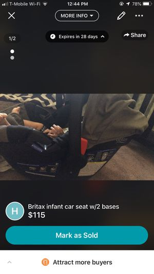 Britax infant car seat w/2 bases for Sale in Bowling Green, OH