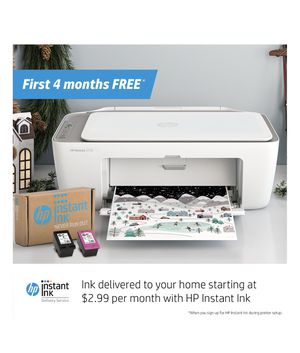 HP DESKJET all in one 2722 + 4 months of ink FREE for Sale in Sarasota, FL