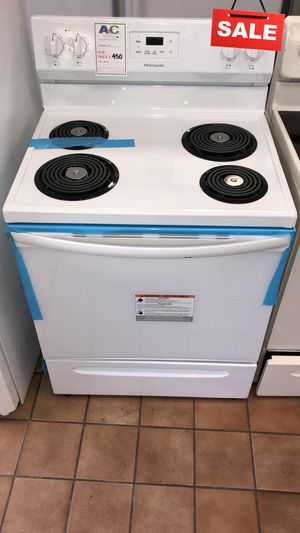 BIG BARGAINS!! CONTACT TODAY! Frigidaire Electric Stove Oven White #1501 for Sale in Baltimore, MD
