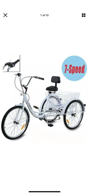 Tricycle for sale white for Sale in Ontario, CA