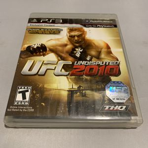 UFC Undisputed 2010 For PlayStation 3 PS3 Complete CIB Video Game for Sale in Camp Hill, PA