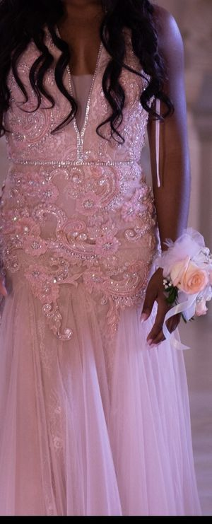 Blush Pink Prom Dress with Beading for Sale in San Francisco, CA
