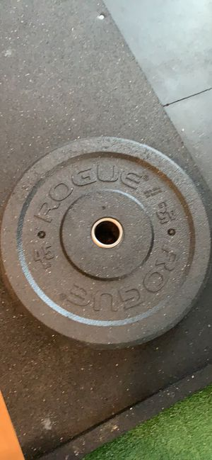 SINGLE 45lbs Rogue Fitness US Mil Spec Bumper Plate for Sale in Fort Worth, TX