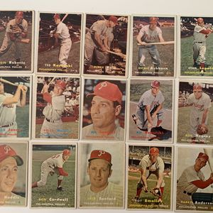 15 Different 1957 Topps Baseball Cards Inc Richie Ashburn Robin Roberts for Sale in Brea, CA
