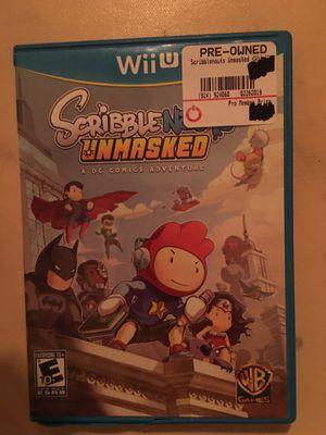Nintendo Wii U scribblenauts unmasked for Sale in Visalia, CA