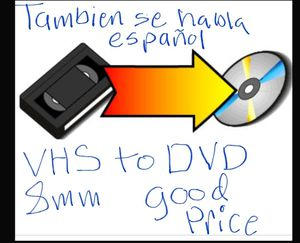 Tranfer Any Vhs, Vhs-c, 8mm tapes to DvD, Good prices$ for Sale in Dallas, TX