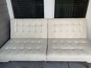 Off-White (cream) Leather Futon for Sale in Houston, TX