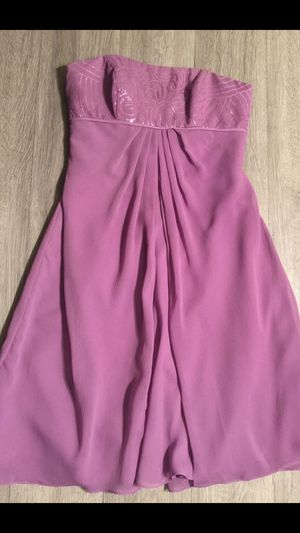 DAVID'S BRIDAL, Lilac Strapless Chiffon Dress, Size 6 for Sale in Phoenix, AZ