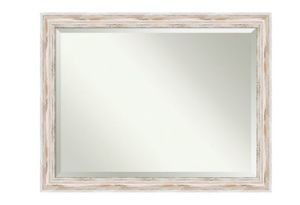 Amanti Art Framed Solid Wood Wall Mirrors |, Glass Size 36x24, Alexandria White Wash for Sale in Las Vegas, NV