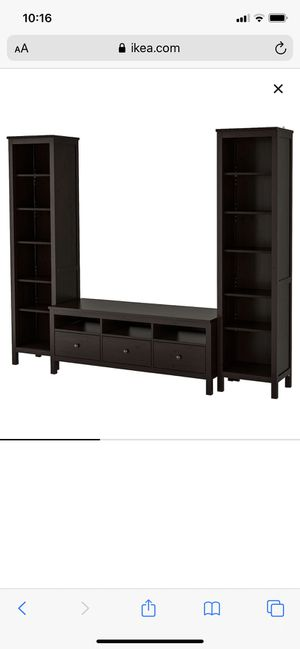 Ikea Hemnes Entertainment Unit TV Stand with Bookshelves for Sale in Fort Lauderdale, FL