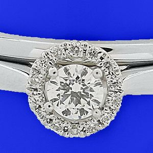 U7025 DIAMOND ENGAGEMENT RING 0.26CT WEDDING BAND LADIES WT GOLD for Sale in Los Angeles, CA