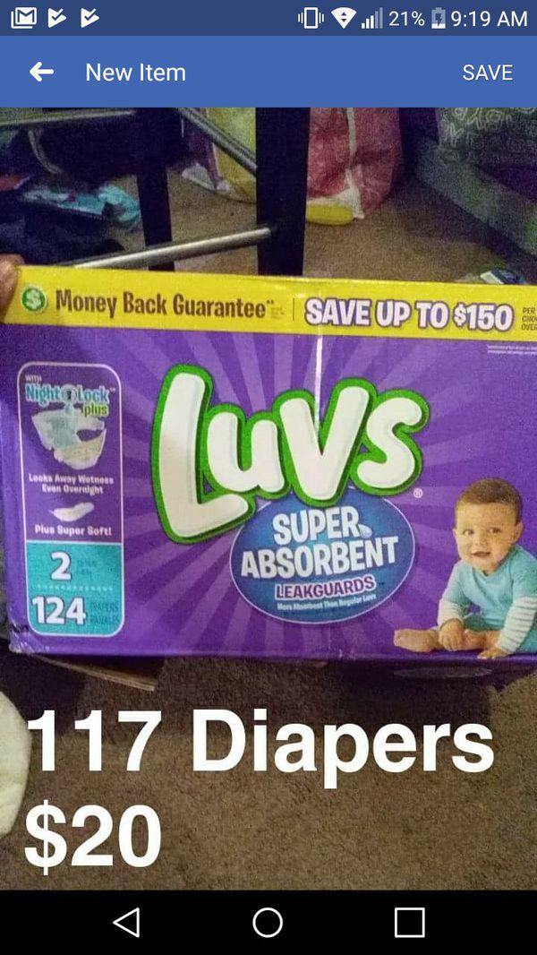Size 2 Luvs/Huggies Diapers