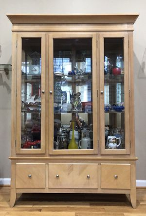 Curio Cabinet + Coffee Table for Sale in Germantown, MD