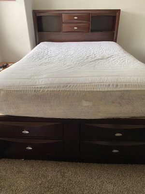 Queen size bed frame (no mattress) for Sale in Portland, OR