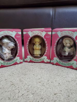 New Enesco Precious Moments Ornaments/1999 Limited Edition Porcelain/Christmas for Sale in Huntington Beach, CA