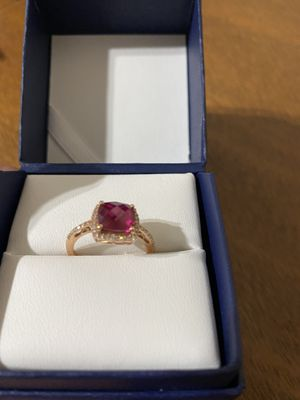 Ring gold rose ,Ruby lab ,Size 7 for Sale in Austin, TX