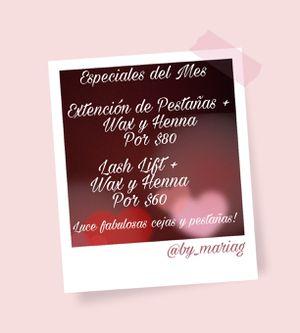 Extenciones de pestañas, lash lift, maquillaje, Wax y Henna para tus cejas for Sale in Hialeah, FL