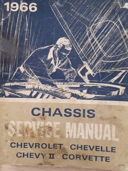 1966 Chevrolet Chevelle Chevy II Corvette Chassis Service Manual for Sale in Hazleton,  PA