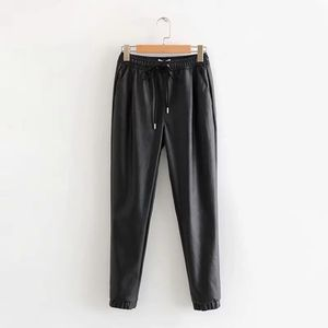 Pu leather latex pants trousers leggings treggings joggers loose cargo pants jeans denim for Sale in Gaithersburg, MD