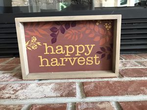 Happy Harvest Decorative Sign for Sale in Everett, WA