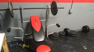 Work out bench with 250 pounds for Sale in Santa Ana, CA
