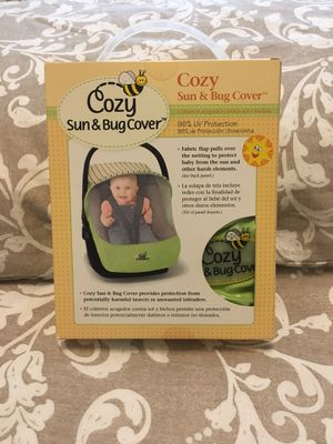 Cozy Sun and Bug Car seat cover for Sale in New Albany, OH