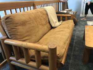 Solid pine futon with table for Sale in Tamarac, FL