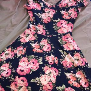 Medium Blue Dress With Pink Flowers for Sale in Middletown, OH
