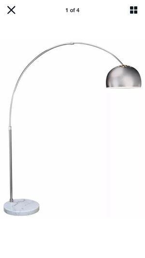 Arc floor lamp with marble base & dimmer for Sale in New York, NY