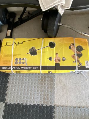 Lifting bar & weight set for Sale in Mansfield, TX