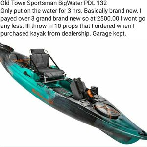 Old Town Sportsman BigWater PDL 132 Kayak Brand New for Sale in Corinth, TX