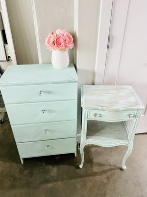 Vintage Dresser Hand Painted Mint Chip Green for Sale in Los Angeles, CA